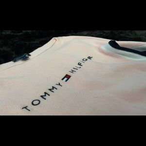 pink and black, tommy hilfiger long sleeve. xxs